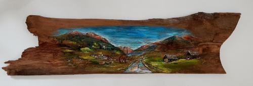 Bilder auf Altholz